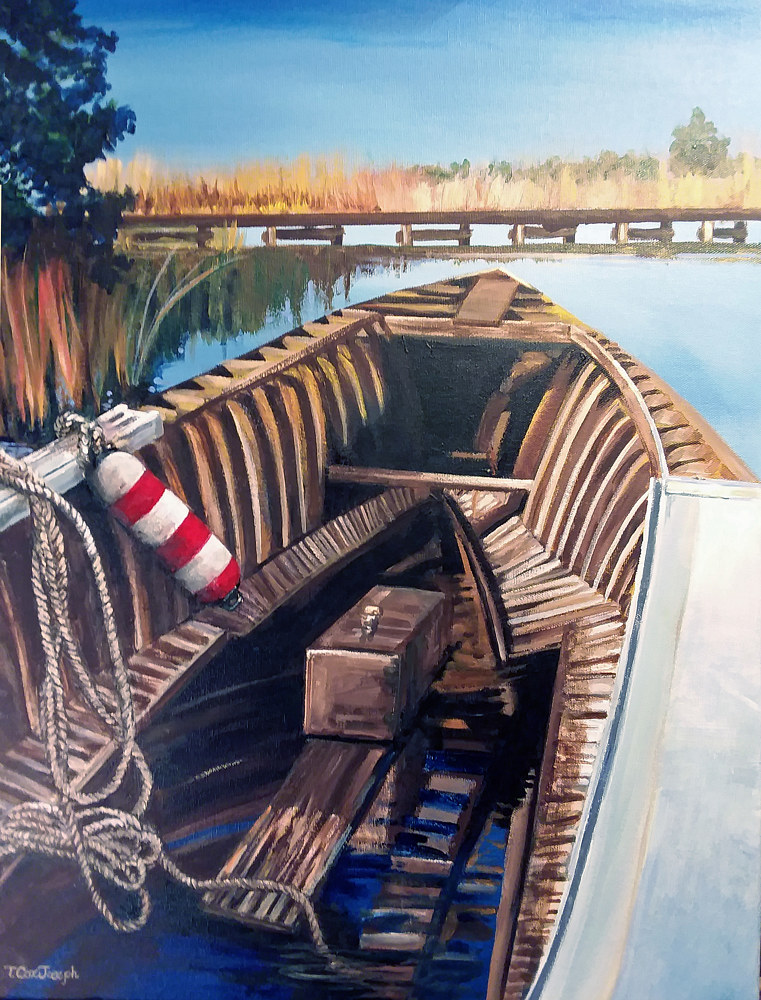Deep Creek Hull with Ropes and Buoy by Terry Cox-Joseph