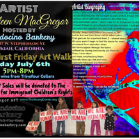 Promotional Flyer for First Friday Ukiah by Kathleen Macgregor