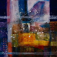 Mixed-media artwork In the morning by Steve Latimer