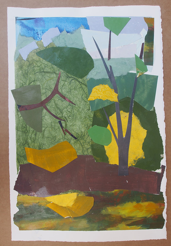 Painting Collage of WCU Creek by Michele Barnes
