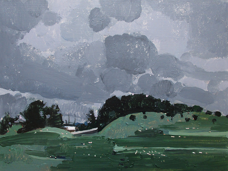 Acrylic painting June Passing, Rain Day by Harry Stooshinoff