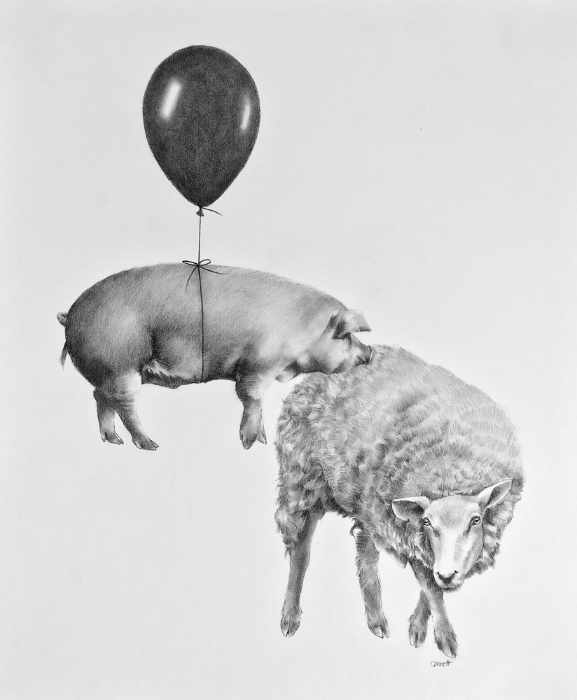 Drawing When Pigs Fly by Ellen Cornett