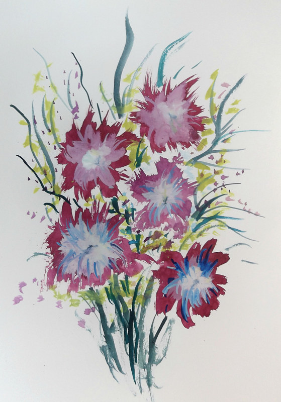 Drawing Floral 5 by David Neace