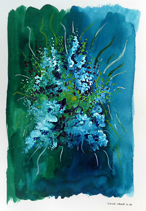 Drawing Floral 6 by David Neace