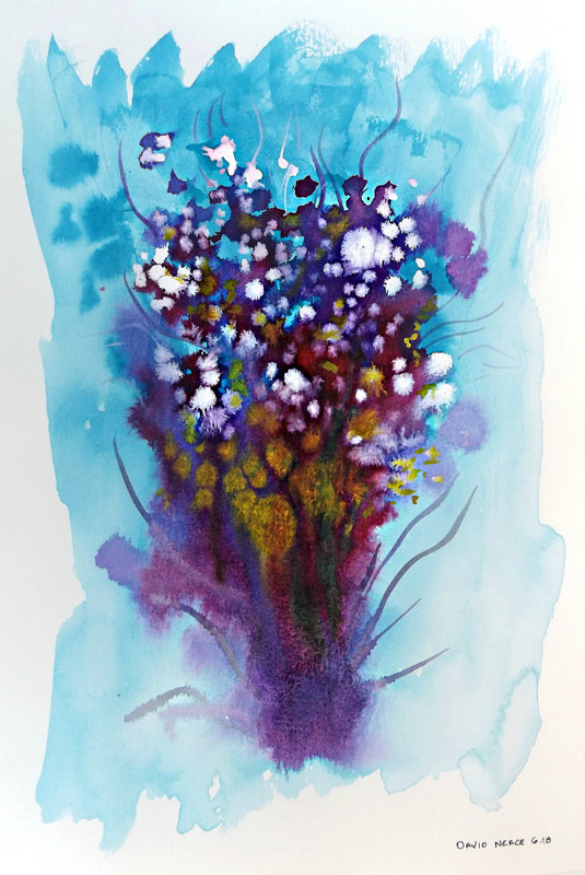 Drawing Floral 7 by David Neace