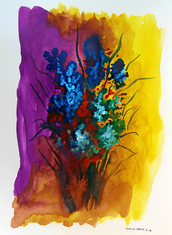 Drawing Floral 10 by David Neace
