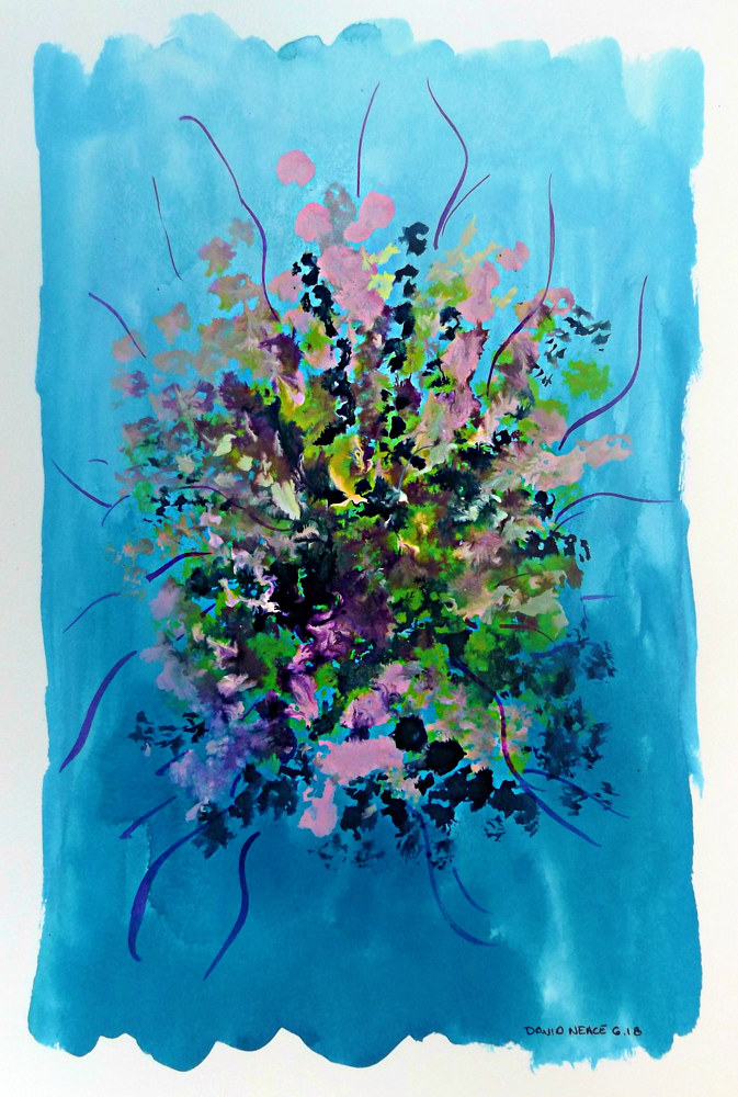 Drawing Floral 12 by David Neace