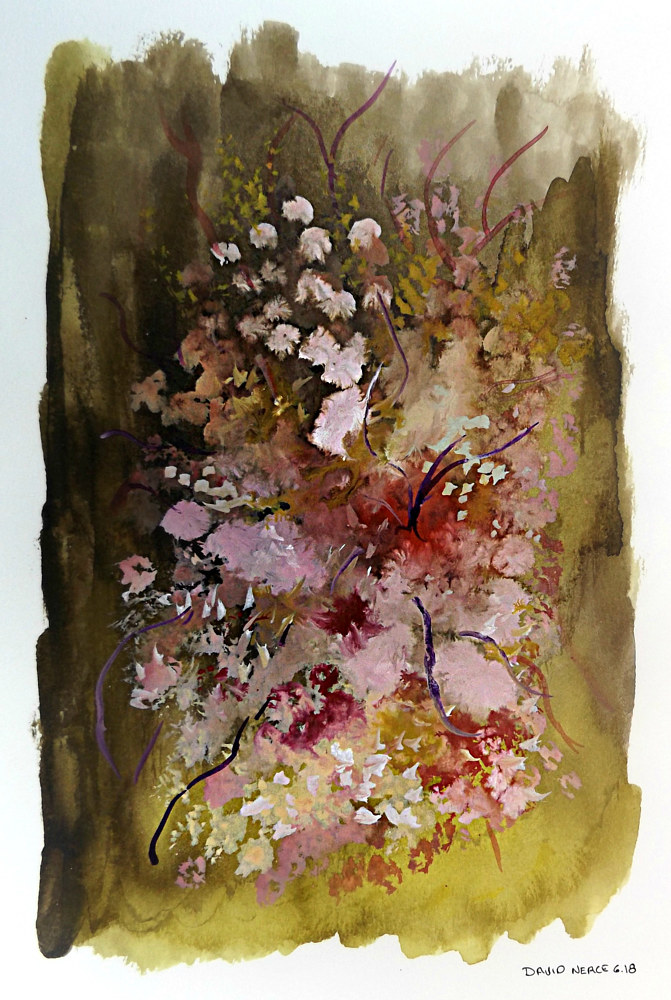 Drawing Floral 13 by David Neace
