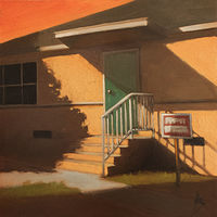 Oil painting Suburban Landscape 4 by Alex Selkowitz
