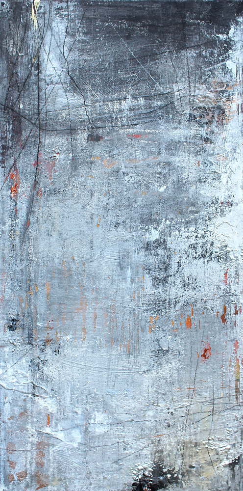 Acrylic painting industrial Fragments 2 by Laura Spring