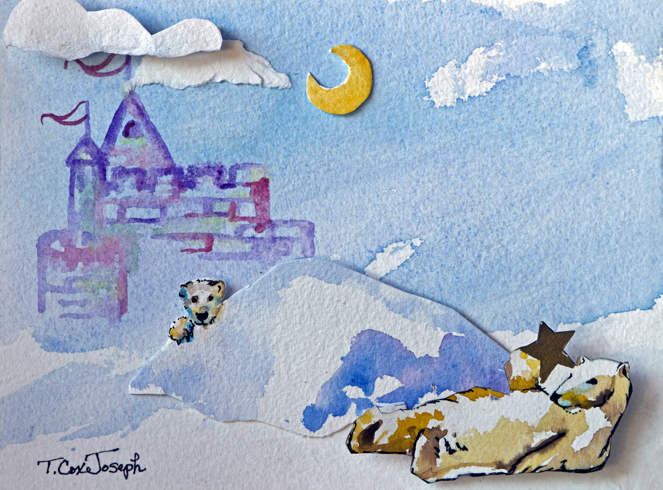 Polar Bears 3D castle by Terry Joseph