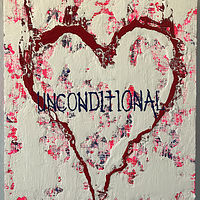 Acrylic painting unconditional.heart by Jeffrey Newman