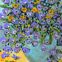 Oil painting From Seeds to Vase. by Svetlana Barker