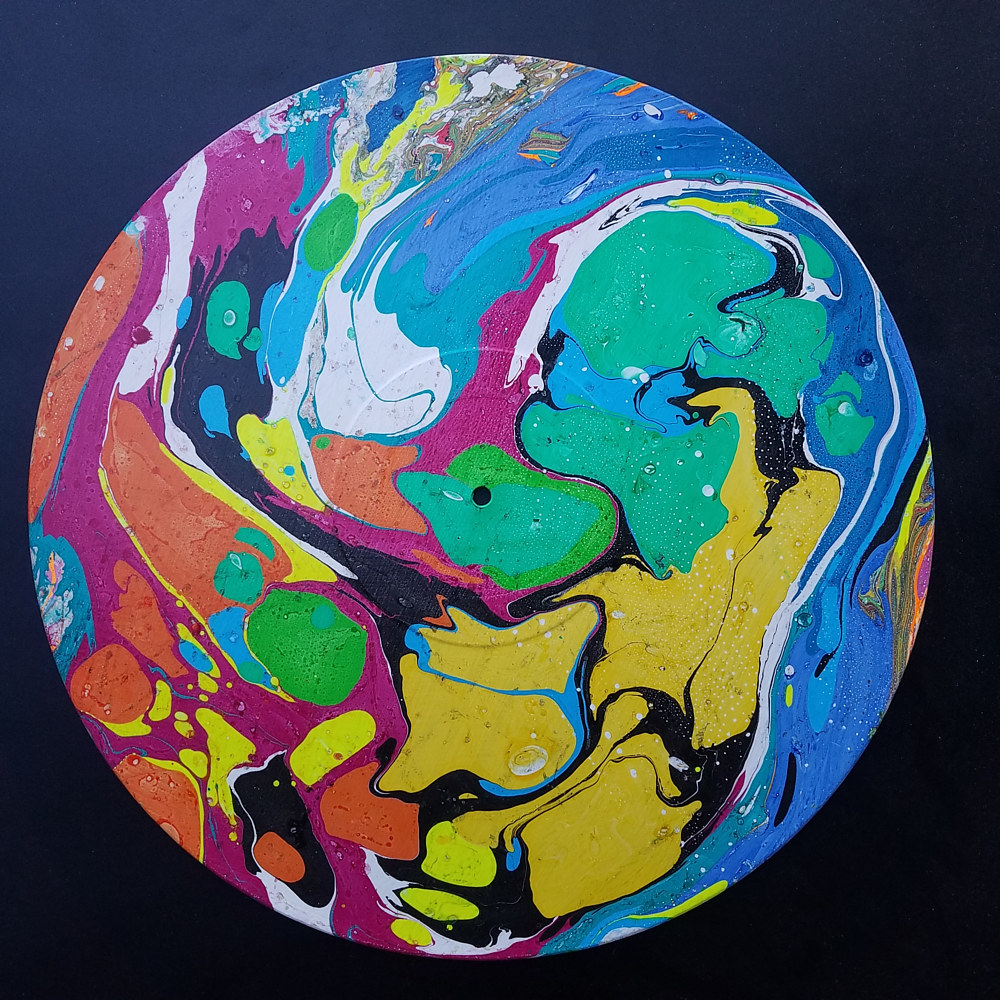 Painting Abstract Marbling  by Isaac Carpenter