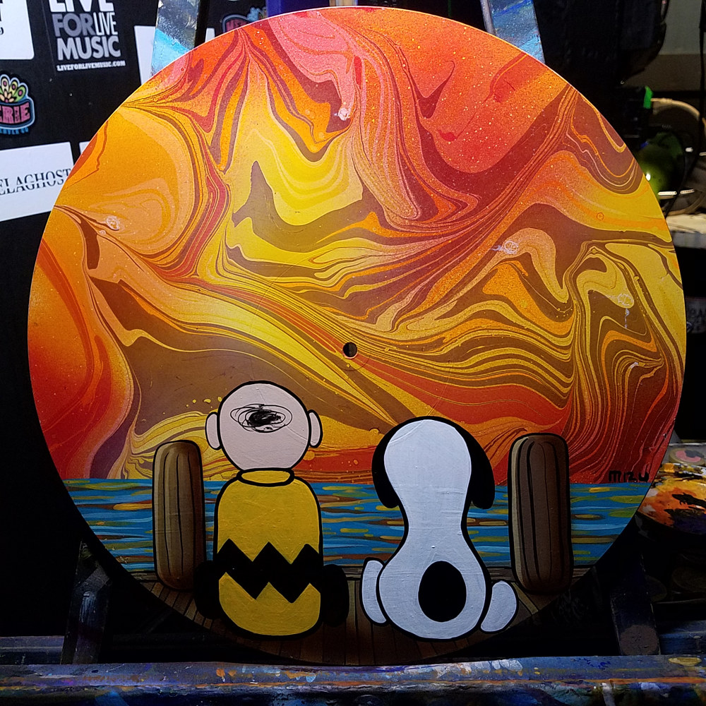 Charlie Brown & Snoopy Sunset by Isaac Carpenter