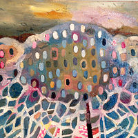 Oil painting Cloud Lattice by Julie Gladstone