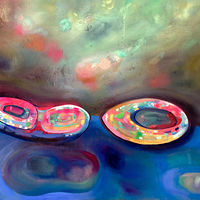 Oil painting Infinity Pool by Julie Gladstone