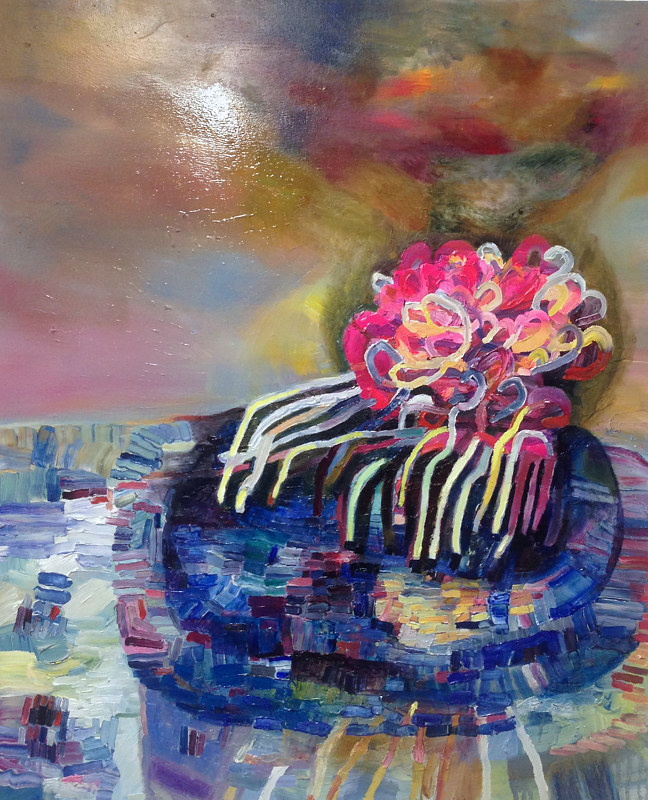 Oil painting Shiny Things  by Julie Gladstone