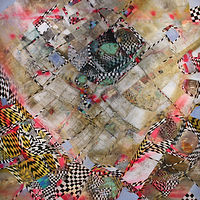 Oil painting Snakes and Ladders by Julie Gladstone