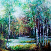 Acrylic painting Wetlands IV (Study) by Liba Labik