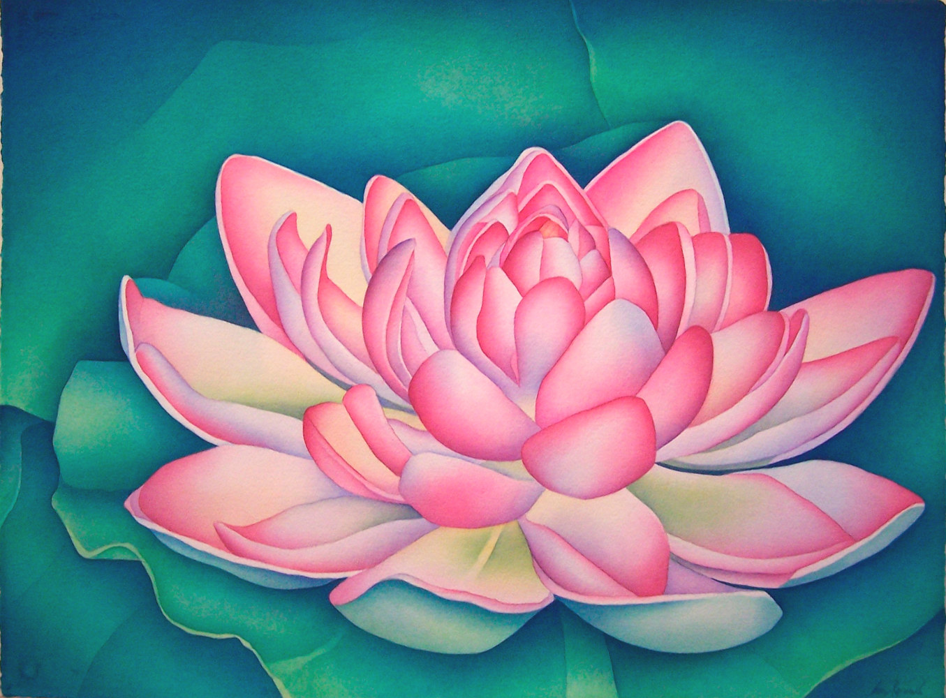 Watercolor Beijing Lily  by Anne Popperwell