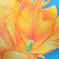 Acrylic painting Tulip by Anne Popperwell