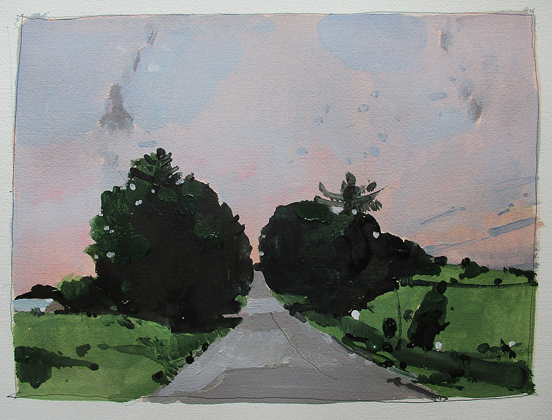 Acrylic painting Road to Sally by Harry Stooshinoff