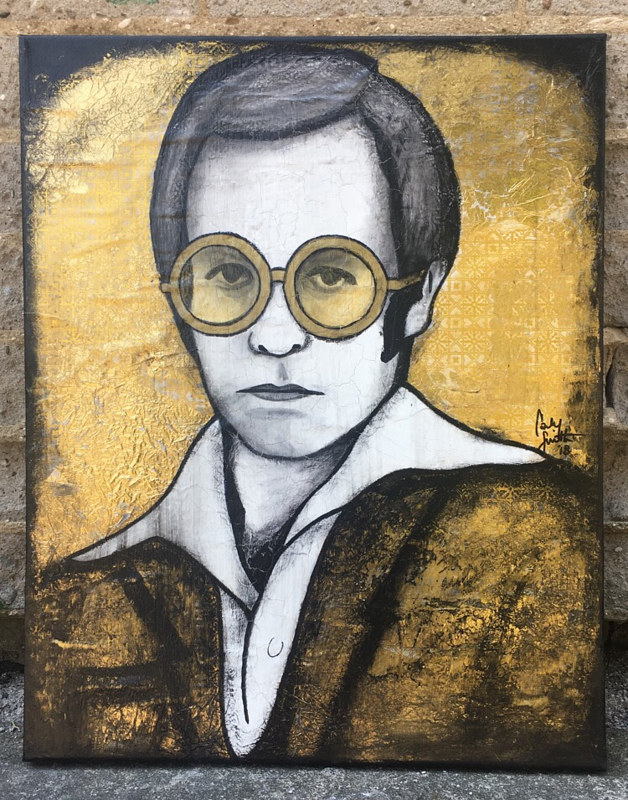 Painting SIR ELTON by Carly Jaye Smith