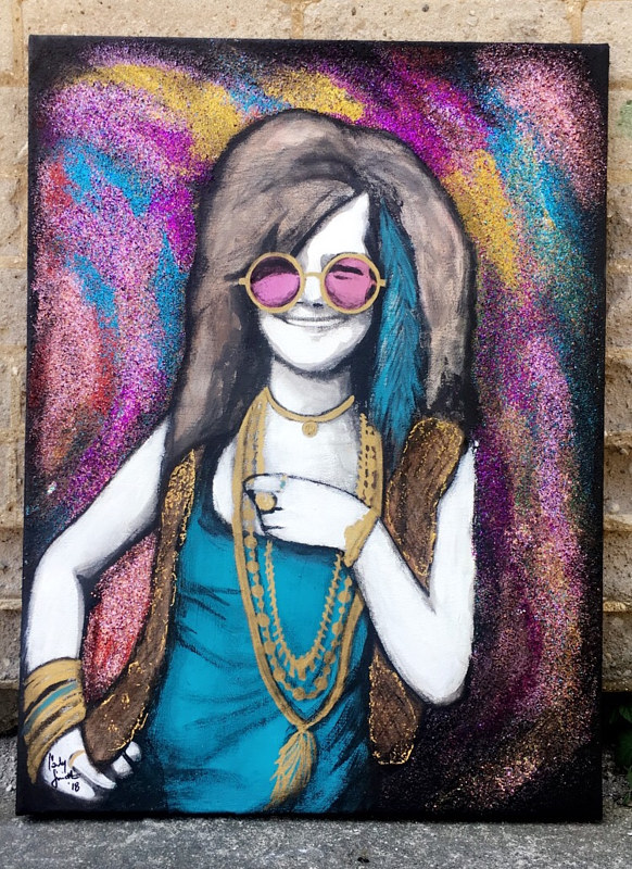Painting ALL THAT GLITTERS IS JANIS by Carly Jaye Smith