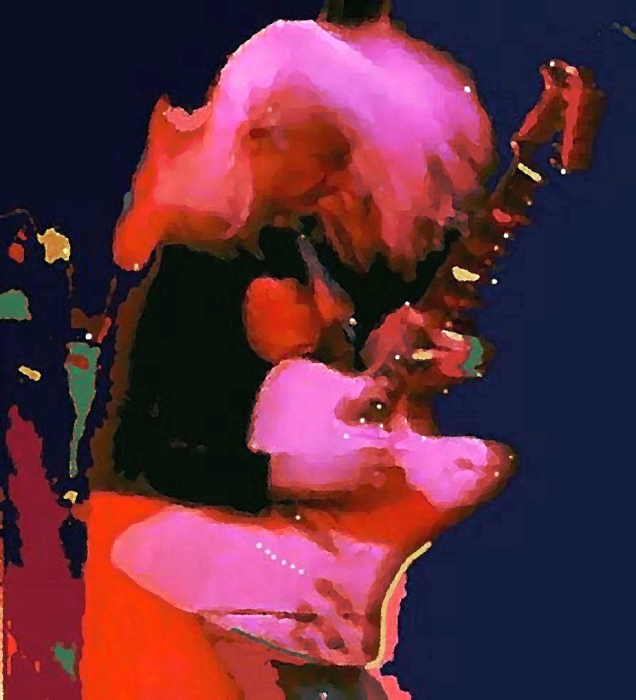 Print Johnny Winter by Vesa Peltonen