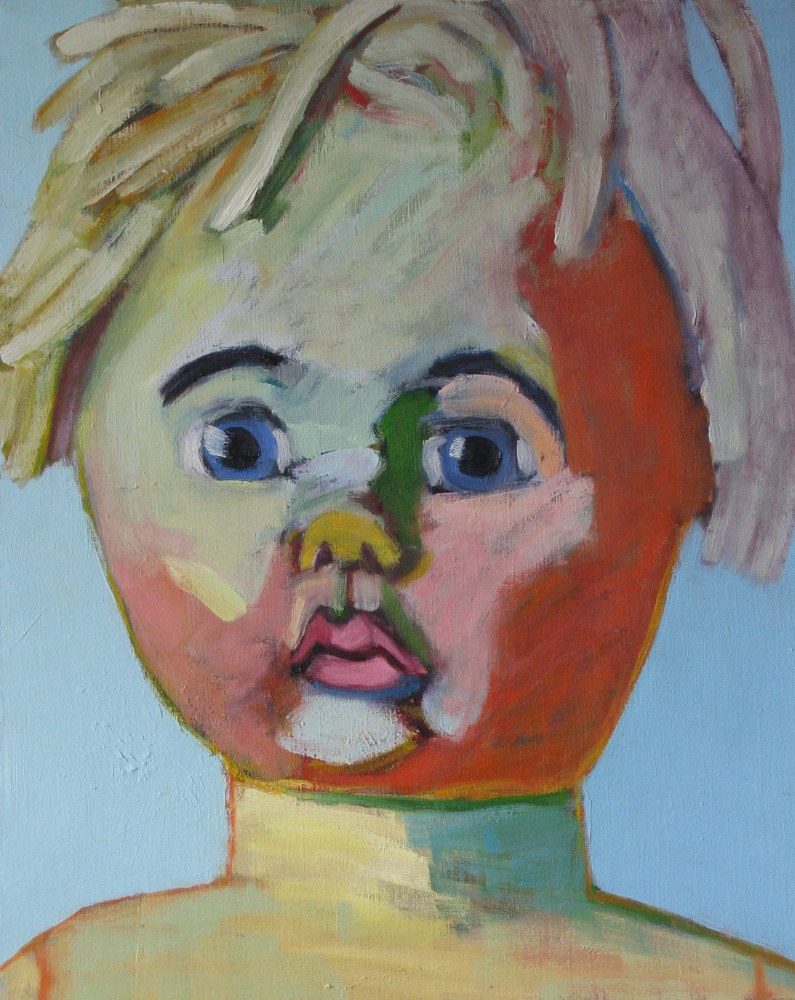 Oil painting Dollface #1 by Gary Jenkins