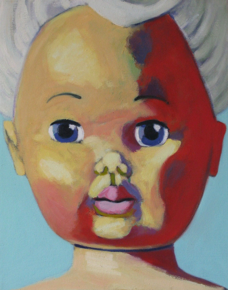 Oil painting Dollface #2 by Gary Jenkins