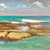 Oil painting Baby Beach  by Pamela Neswald