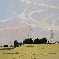Acrylic painting Friday Field by Harry Stooshinoff