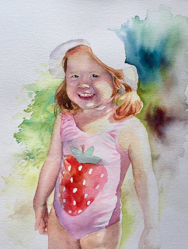 Watercolor Sunny Summer Day by Betty Ann  Medeiros