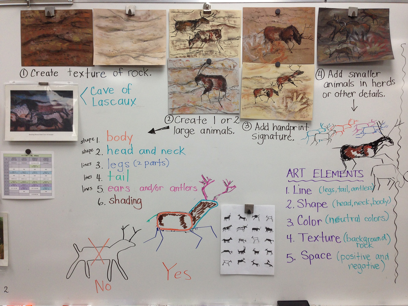Teaching Early Man Art to 1st Graders by Linnie (Victoria) Aikens Lindsay