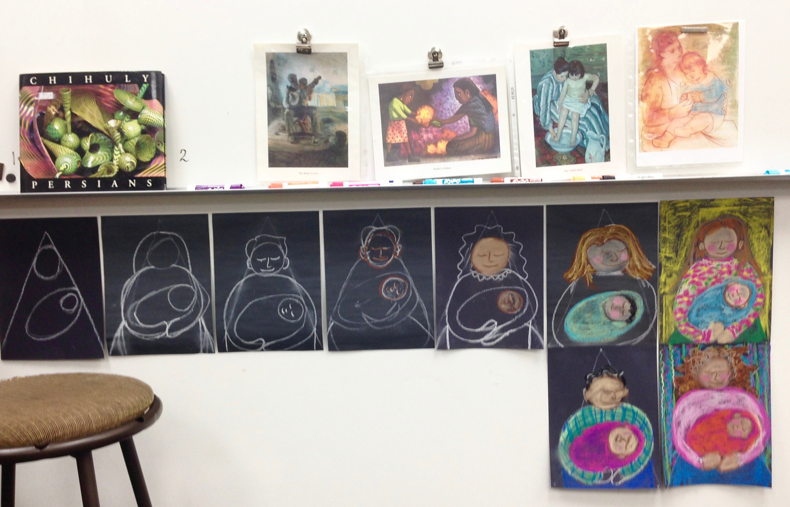 Teaching Parent and Child Portraits to Kindergarteners by Linnie (Victoria) Aikens Lindsay