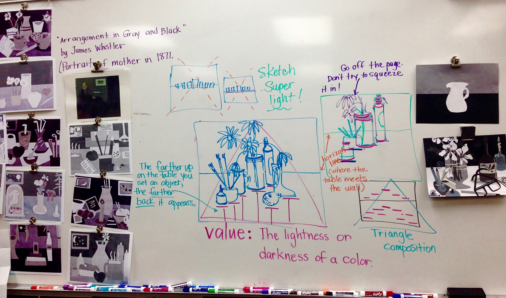 Teaching Still Life and Value to 1st Graders by Linnie (Victoria) Aikens Lindsay