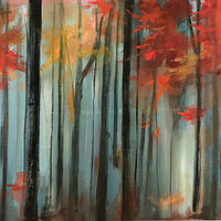 Acrylic painting Into The Woods by Drew Marin