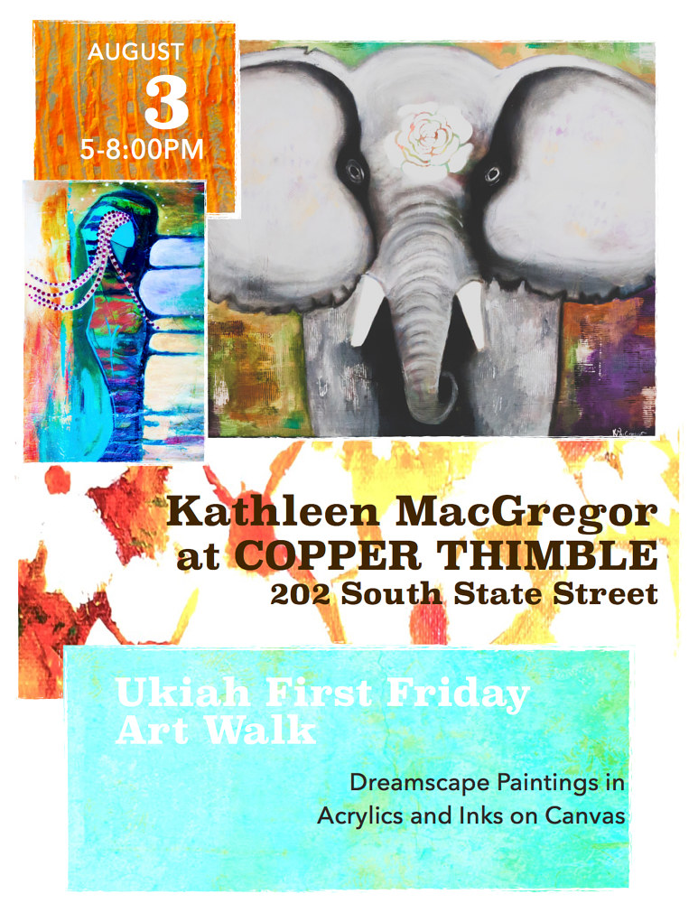 Art Walk Flyer August '18 by Kathleen Macgregor