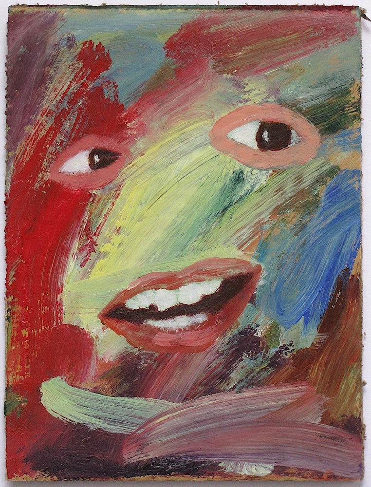 Acrylic painting Collage Face  by Gary Jenkins