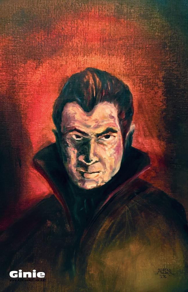 Oil painting Drago Lugosi by Adrian Molina