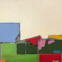 Acrylic painting Farm Blocks by Sarah Trundle