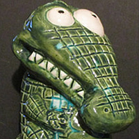 Sepik River Sammy Glazed No. 1 by Kenneth M Ruzic