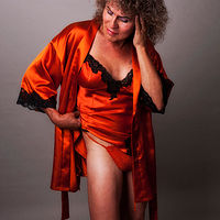 Rusty and the Orange Robe, Albuquerque, NM 2012 by Jim Holbrook