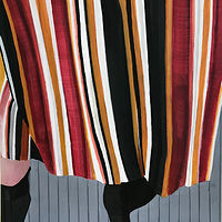 "Acrylic painting ""Sally in Stripes"" by Brad Nuorala"