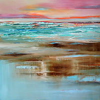 Oil painting Surface of the Ocean by Svetlana Barker