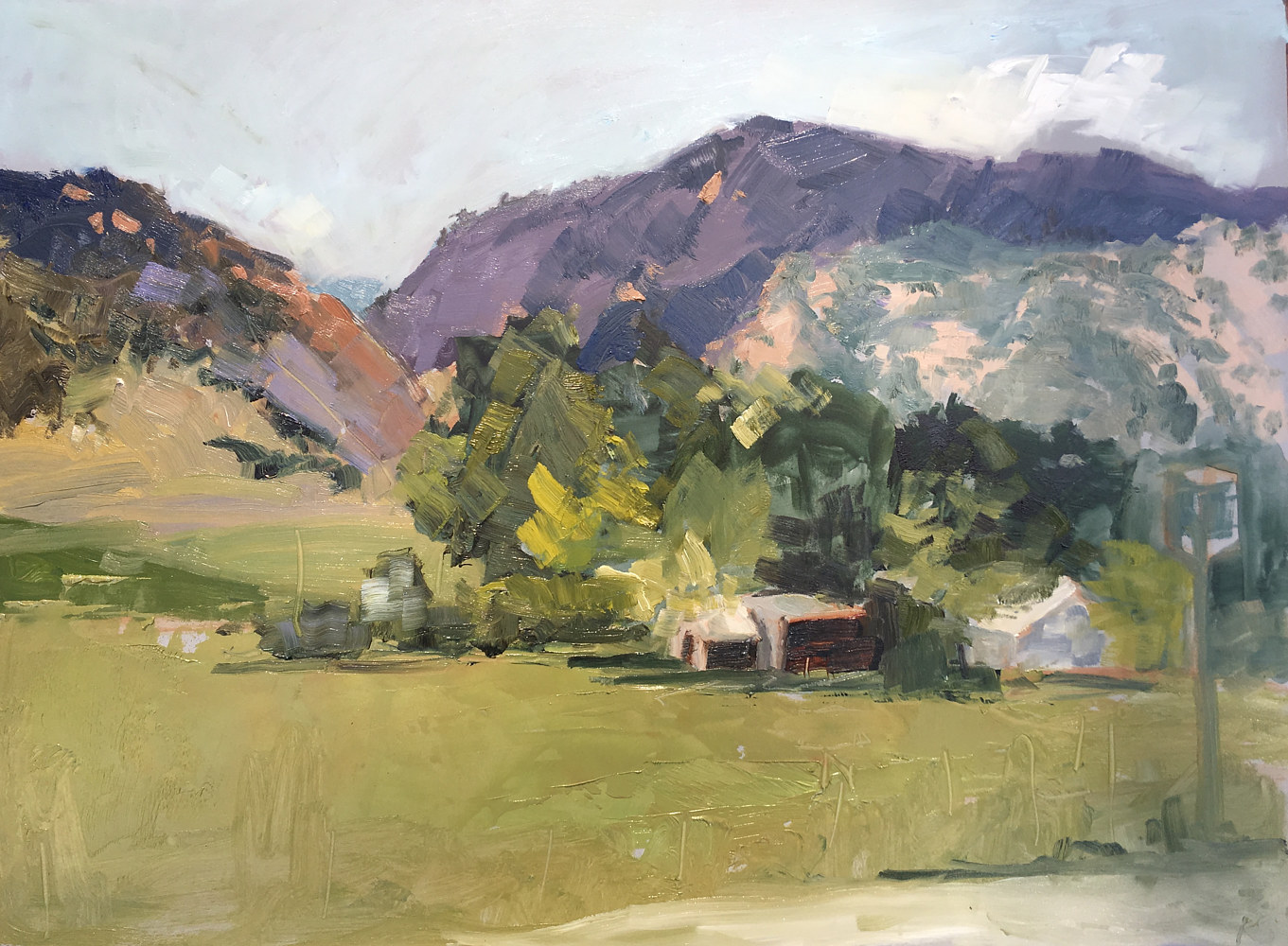 Oil painting Salida, Summer (Plein air) by Karen Smith