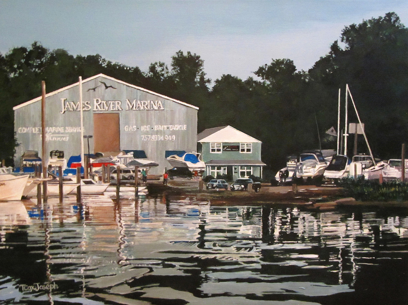 James River Marina Reflections II  by Terry Cox-Joseph