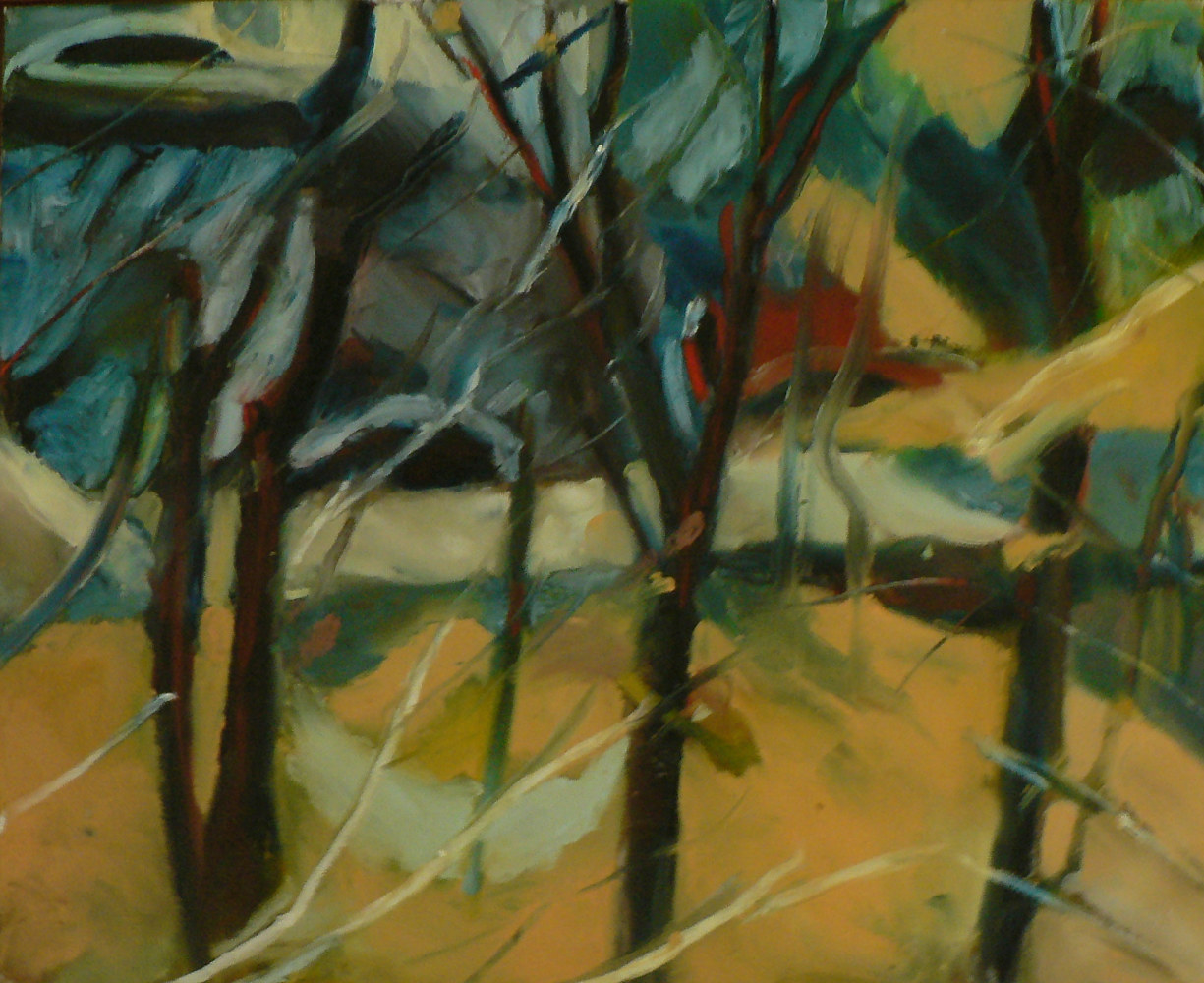 Early Spring, (Oil Sketch) on canvas by Michael louis Johnson